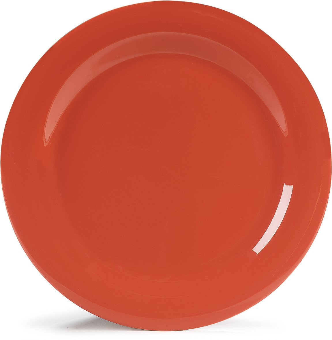 Carlisle 4300252 Durus Narrow Rim Melamine Dinner Plate, 10.5'', Sunset Orange (Pack of 12)