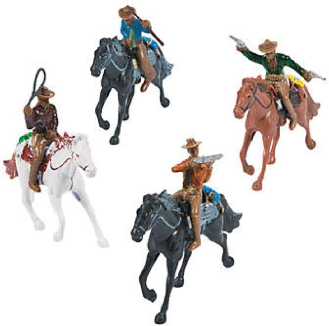 HAPPY DEALS ~ Western Party Favor Set Includes 4 Horses and 4 Cowboys Stocking Stuffer Set
