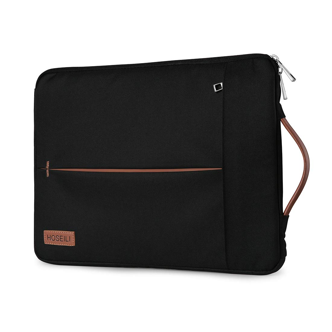 Shockproof Lightweight Case for Most 13 Ultrabook Surface Dell HP Black Hoseili 13-13.5 Inch Laptop Sleeve Water Resistant Briefcase with Leather Handle for Apple New MacBook Pro//MacBook Air
