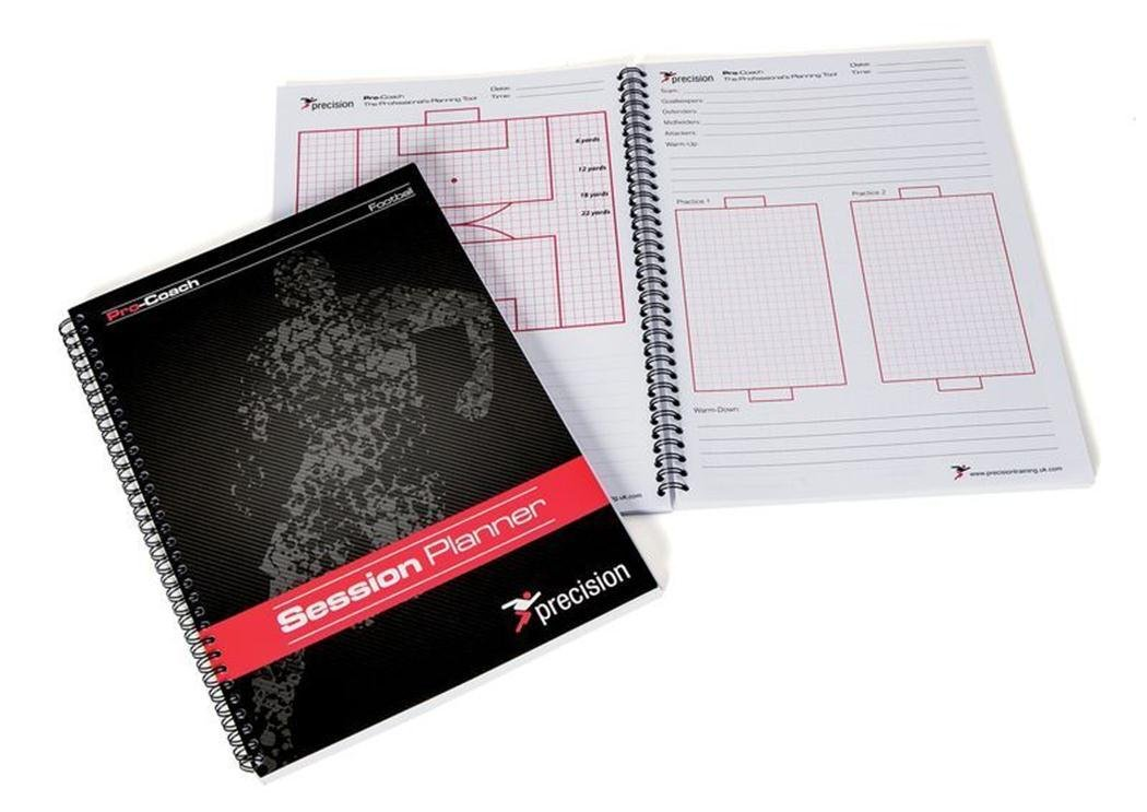 Precision Soccer Sports Coaches Training Match Play Session Planner Notepad by Precision Training