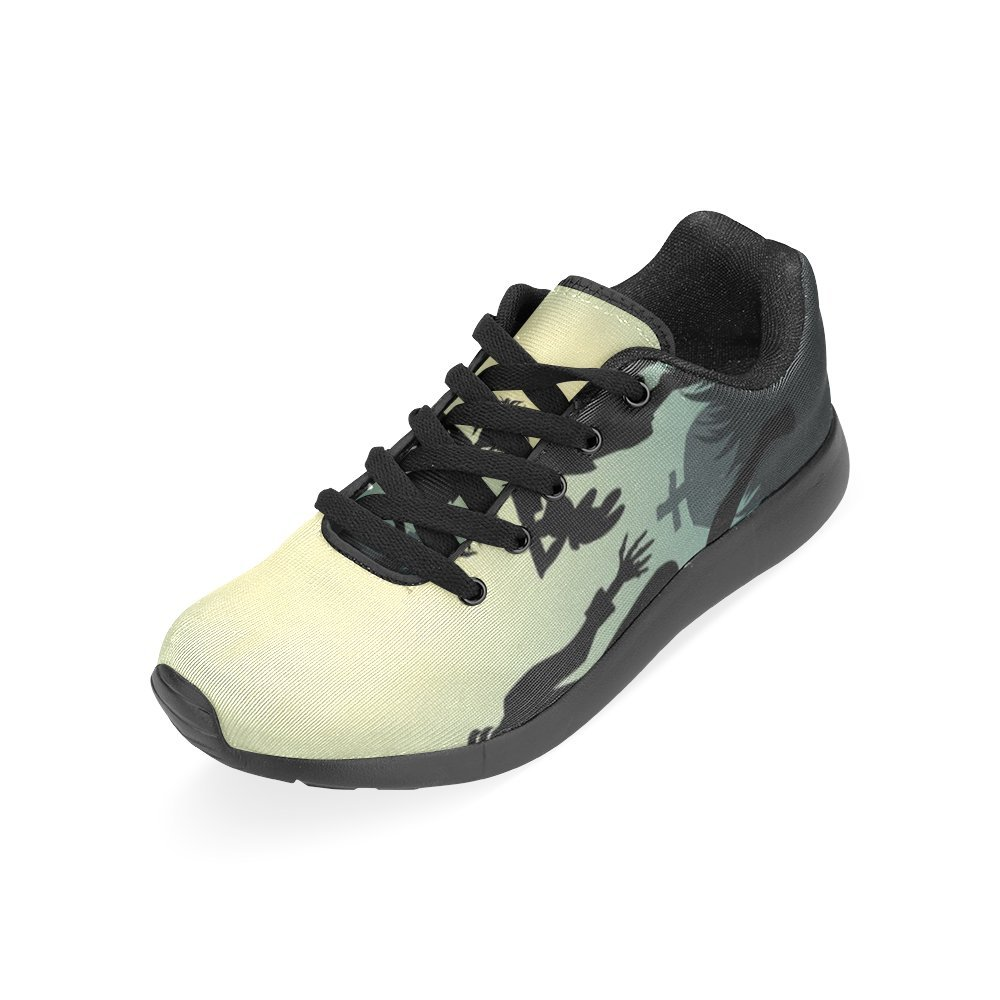 Zombie Famiy 3-D Flywire Technology Upper EVA Sole Running Shoes for Women