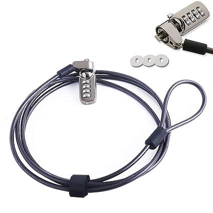 Luxtech Candados de Seguridad Antirrobo del Ordenador Portátil de Bloqueo de Seguridad Universal 1900mm Cable con
