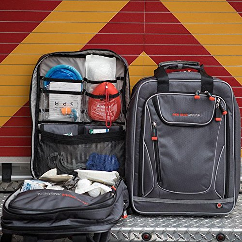 The Shield New Gear Medical Backpack, First aid, Emergency Response Small Trauma Bag, EMT, Paramedic, Nurse, Home Health, Antimicrobial- UN Packed