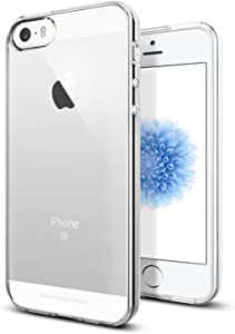 TENOC Phone Case Compatible for Apple iPhone SE 2016/ iPhone 5S/ iPhone 5, Crystal Clear Ultra Slim Cases Soft TPU Cover Full Protective Bumper