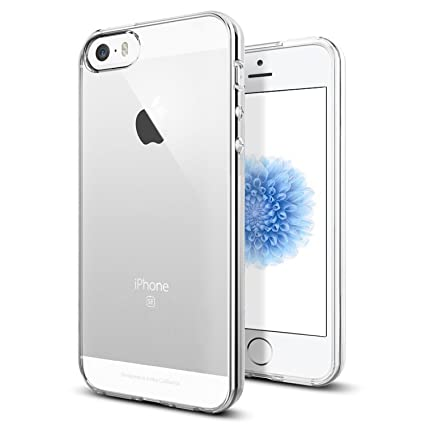 a basso costo 4a363 7189c TENOC Case Compatible for Apple iPhone 5/ iPhone 5S/ iPhone SE, Crystal  Clear Soft TPU Cover Full Protective Bumper