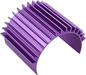Hobbypark Electric 380 Motor Heat Sink Cooling Fin Aluminum Alloy for Brushless/Brushed Blue/Purple (Purple)