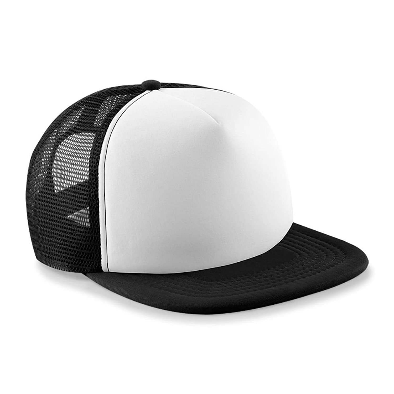 Vintage Snap Back Trucker Cap Black/White