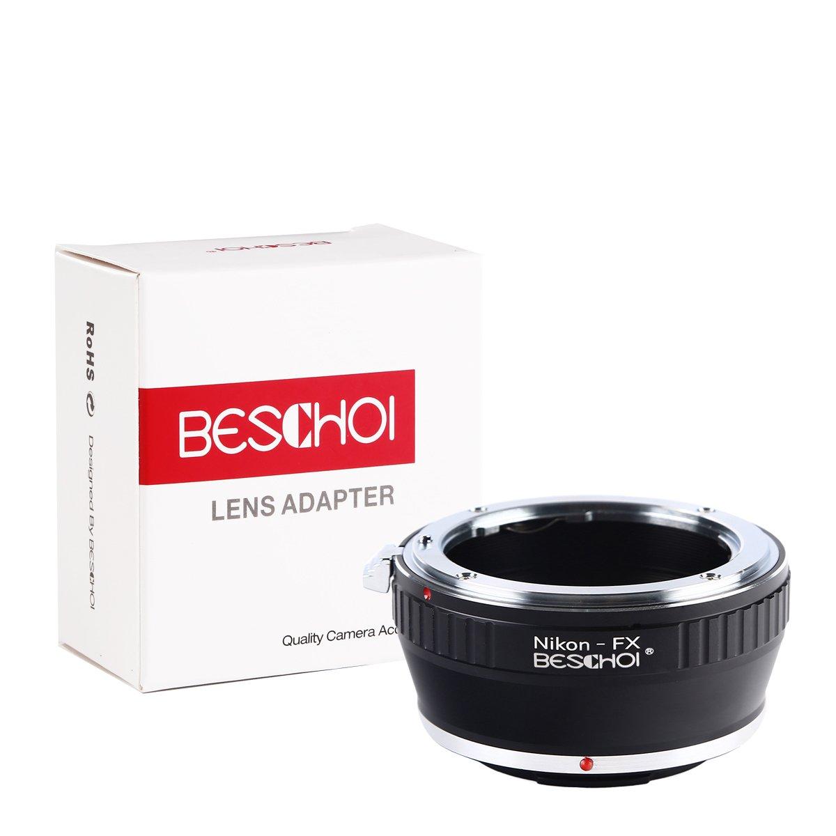 Beschoi Adaptador de Lente para Nikon F Montura AI a Fujifilm FX ...