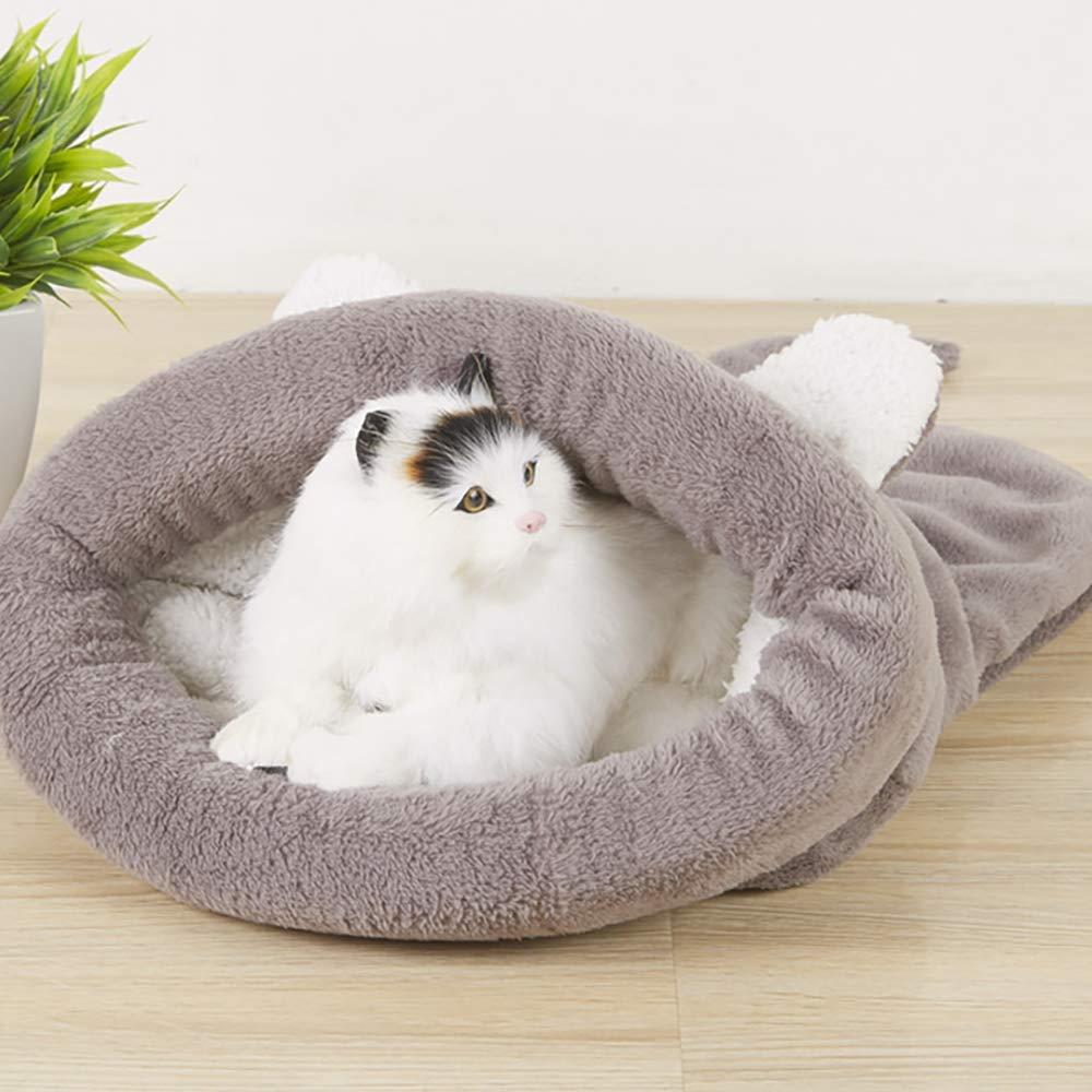 L, Grey BLEVET Saco de Dormir para Mascotas Snuggle Saco de Manta Manta para Gatito Cachorro Peque/ños MZ042