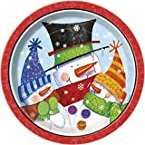 23cm Snowman Buddies Christmas Party Plates by Unique Party