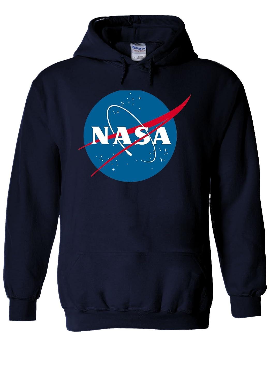 Nasa National Space Administration Logo White Men Women Unisex Hooded Sweatshirt Hoodie B01KS3VZV6  ネイビー Small
