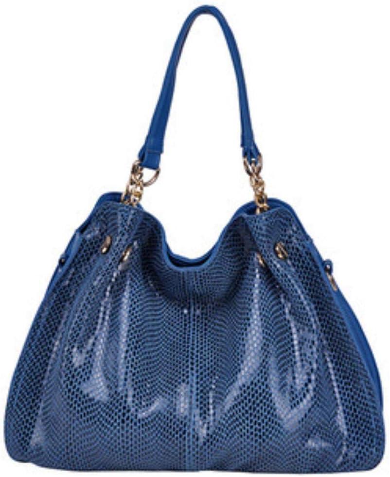 ABO - Bolso bandolera de piel para mujer Azul