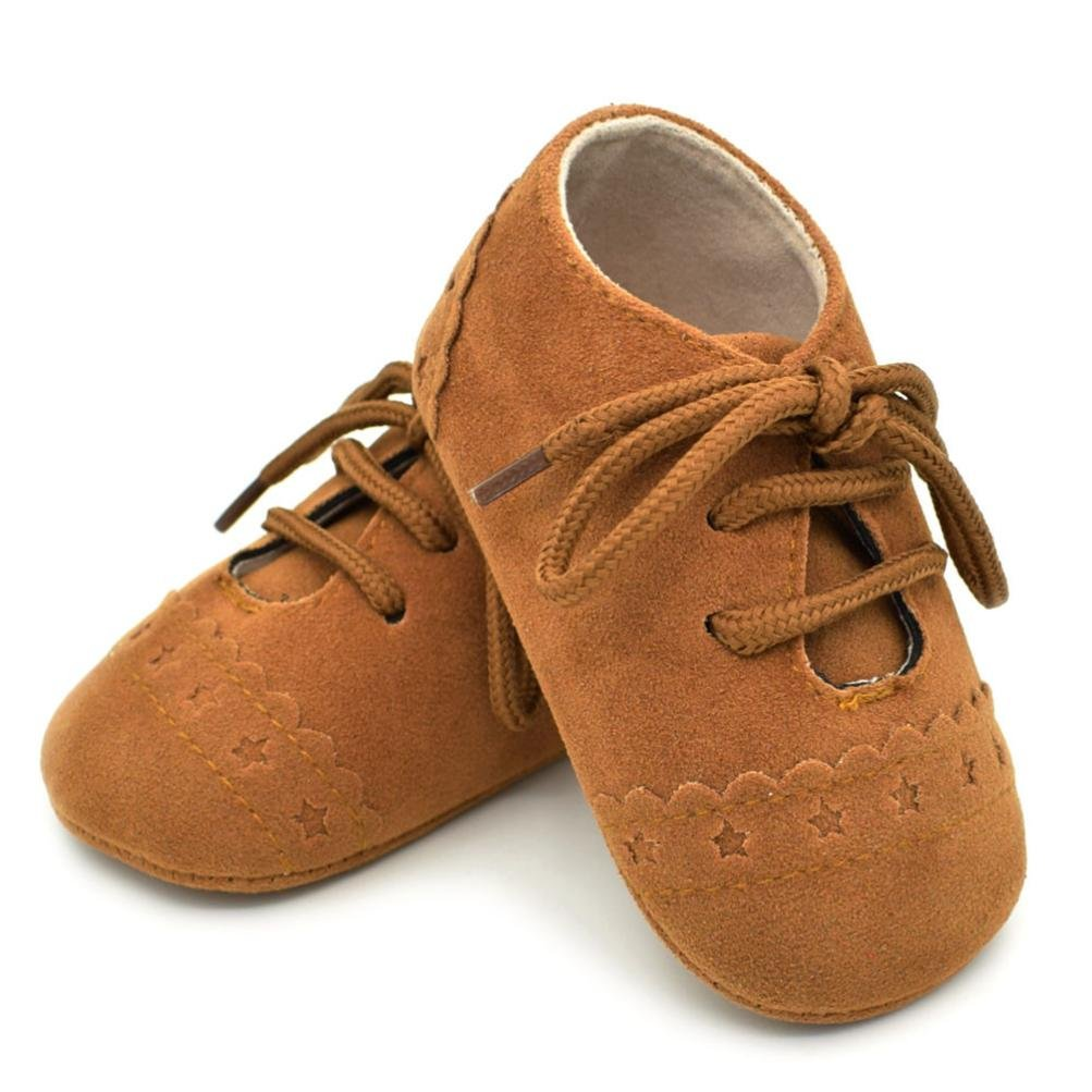 KaloryWee Toddler Sneakers Toddler Girl Boy PU Moccasins Soft Sole Anti-Slip Tassel Crib Shoes