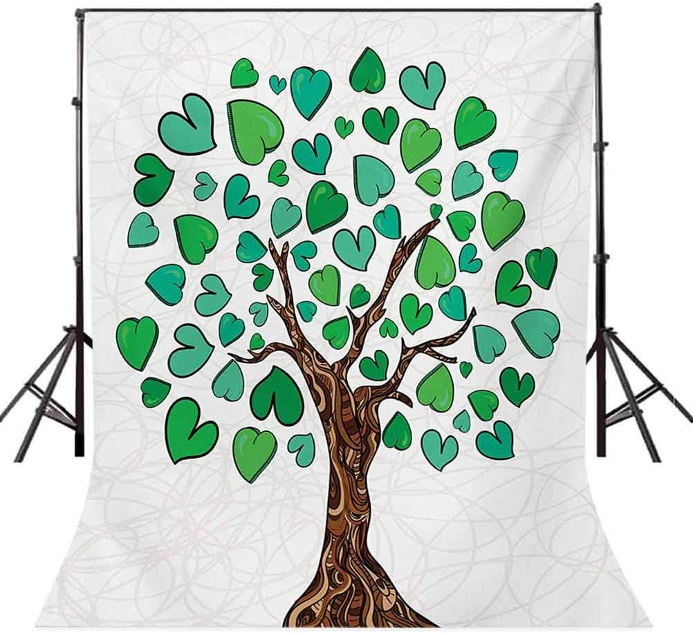 10x12 FT Photography Backdrop Valentine Day Sketchy Love Tree with Heart Leaves on Curved Life Print Background for Baby Shower Birthday Wedding Bridal Shower Party Decoration Photo Studio