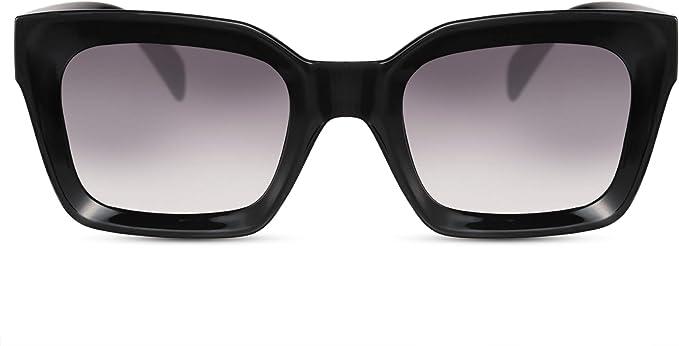 Cheapass Occhiali da Sole Montatura 3D di Fronte Occhiali da Sole Grandi Splendidi Neri con Lenti Scure UV400 Protetti da Donna