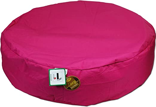 Puff redondo Henleys para jardín, impermeable, para interior y exterior, con asiento de cojín de 25 cm x 100 cm para niños y adultos., rosa: Amazon.es: Jardín