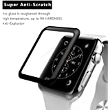 AE(TM) 3D 9H Tempered Glass For Apple Watch 42MM iWatch Real Premium Glass Protective Screen Film Anti-shatter Shockproof Apple Watch 42mm Black