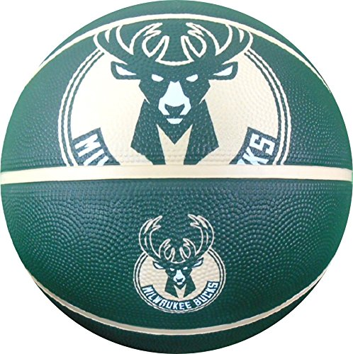NBA Milwaukee Bucks Spaldingteam Logo, Green, 29.5'' by Spalding