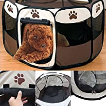 Folding pet Tent Playpen Dog Fence Puppy Kennel Folding Exercise Play