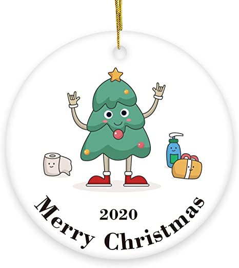 5 Pack Santa Claus Printed Pattern Toilet Paper Ornaments 2020 Christmas Ornaments Toilet Paper Ornaments for Families Friends
