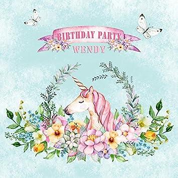 Amazon.com: pa-021 personalizado unicornio fiesta feliz ...