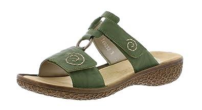 ffaded9f2c5f32 Rieker V69N2 Femme Sandale à lanières,Sandales à lanières,Chaussures d'été,
