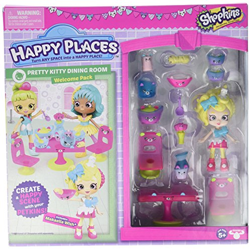 Shopkins Happy Places Season 3 Welcome Pack - Pretty Kitty Dining Room (Shopkins Season 2 Babies 5)