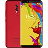 Smartphone in Offerta - UMIDIGI S2 Lite, Display da 6.0 pollici in 18: 9, Telefono Cellulare Dual SIM con Android 7.0 - Face Unlock, 5100mAh, Telefonia Mobile 4G – Corpo in metallo, Octa Core 1.5 GHz 4 GB + 32 GB – Doppia Fotocamera 16.0MP + 5.0MP, USB Type-C - Rosso
