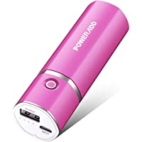 Poweradd Slim2 5000mAh Portable Charger Power Bank with Auto Detect Technology Compatible for iPhone, iPod, Samsung, Nexus, HTC and More (8pin Cable Not Included) - Rose Red