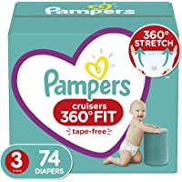 Diapers Size 3, 74 Count - Pampers Pull On Cruisers 360˚ Fit Disposable Baby Diapers with Stretchy Waistband, Super Pack