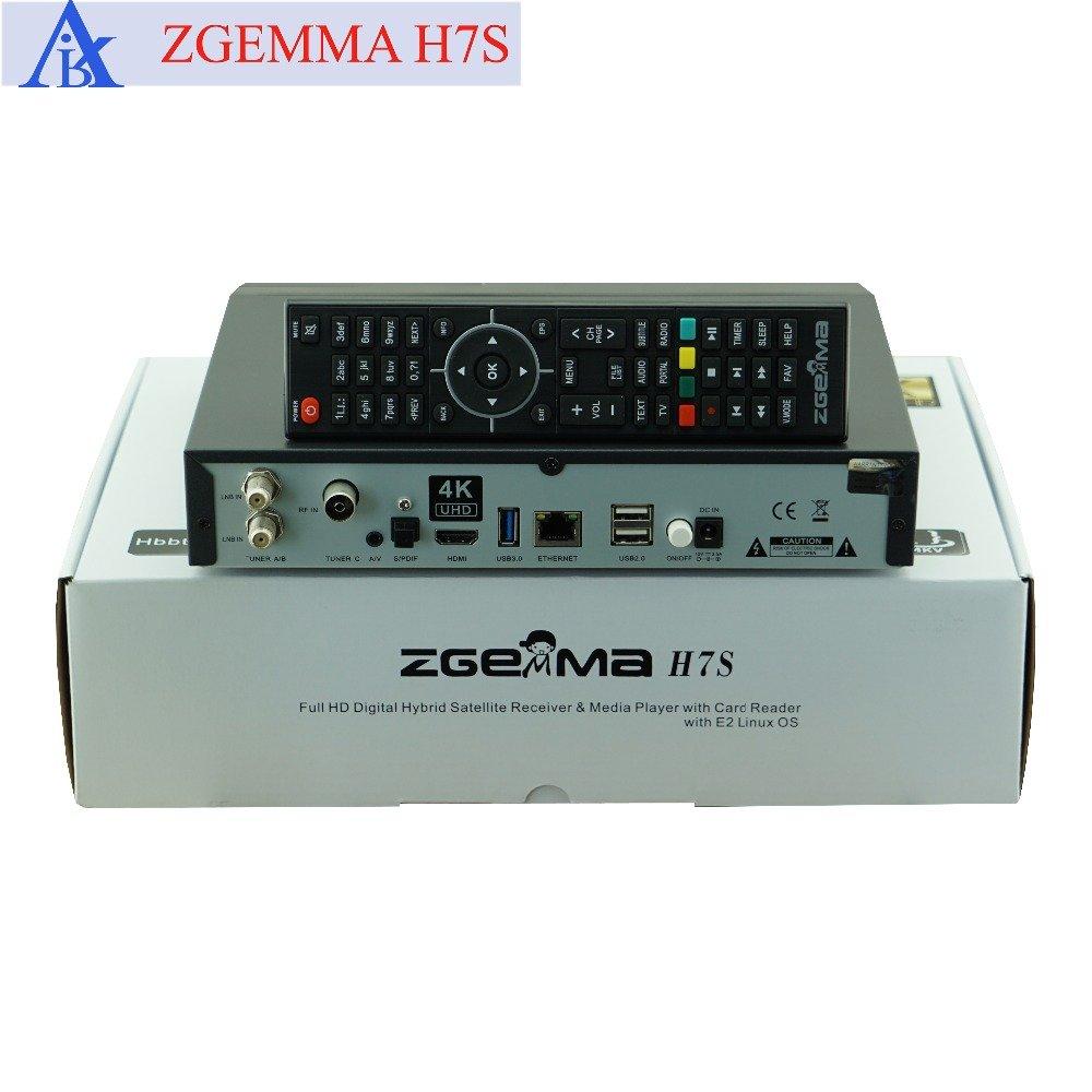 Zgemma H7S 4K Triple Tuner 2 x DVB-S2 1 x Hybrid DVB-T2