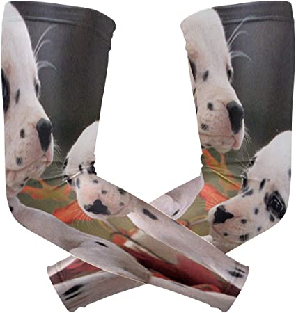Arm Sleeves Autumn Colors Mens Sun UV Protection Sleeves Arm Warmers Cool Long Set Covers White