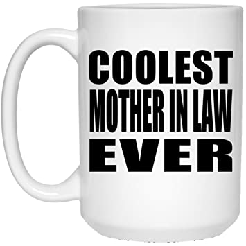 Amazon coolest mother in law ever 15 oz coffee mug ceramic coolest mother in law ever 15 oz coffee mug ceramic cup best gift negle Images