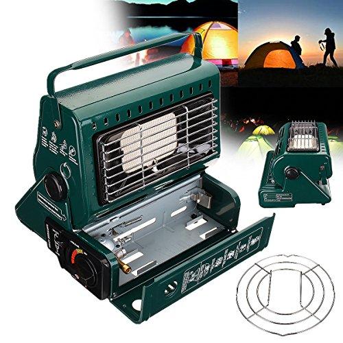 hitsan 2en 1calentador portátil de gas butano al aire última intervensión, Camping, Senderismo Supervivencia cálido...