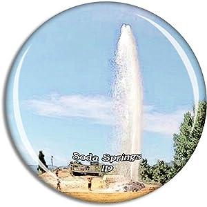 Soda Springs Geyser Idaho USA Magnet Travel Souvenir 3D Crystal Glass Collection Gift Refrigerator Sticker
