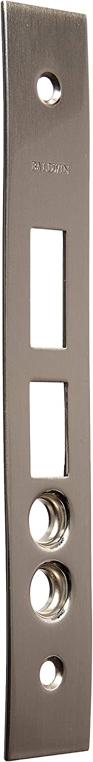 Baldwin 6021.0004 Latch//Deadbolt//Stops Armored Front 6000 Series with 2-3//4 Satin Nickel