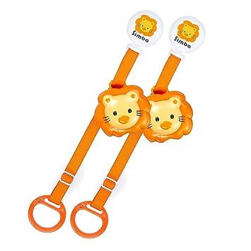 Amazon.com: Simba cabeza de león Chupete clip con Caso (2 ...