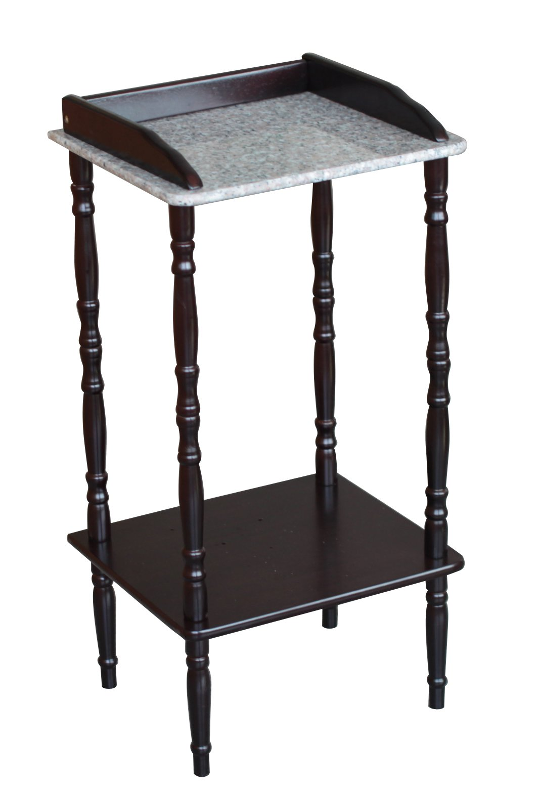 Frenchi Home Furnishing Phone Table with Marble Top