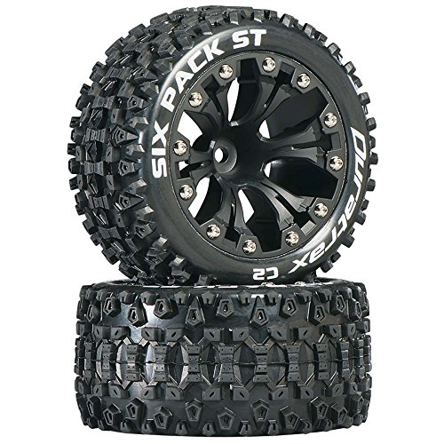 Duratrax DTXC3562 Six Pack RC Staduim Truck Tires with Foam Inserts, C2 Soft Compound, ST 2.8