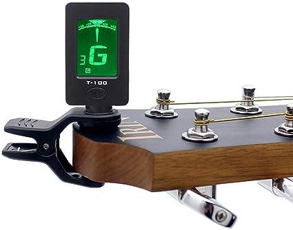 IRIN T-100 - Afinador de guitarra portátil para guitarra, bajo ...