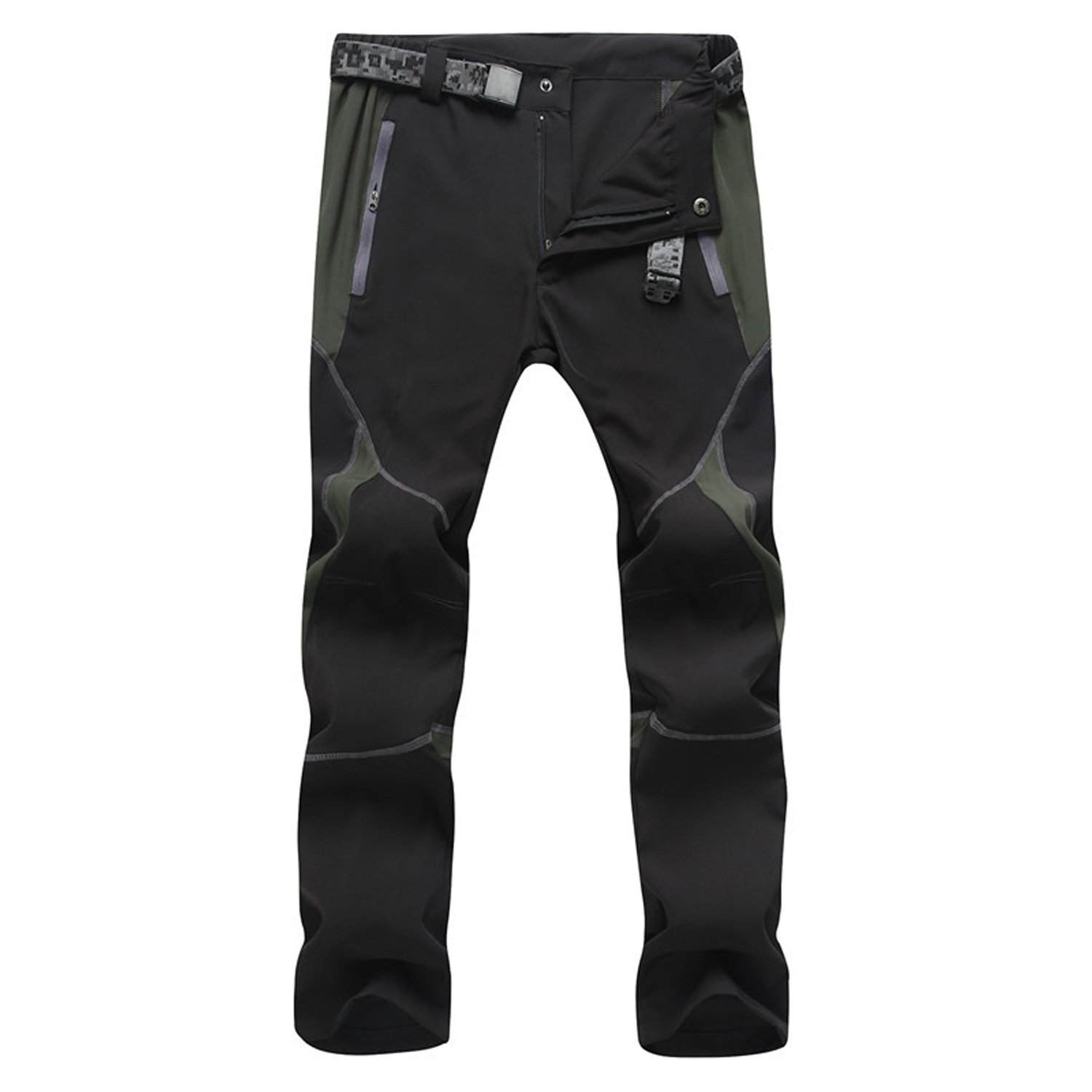 LUI SUI Mens Outdoor Quick Drying Hiking Pants Windproof Breathable Lightweight Trousers Moutain Climbing Cargo Walking Trousers