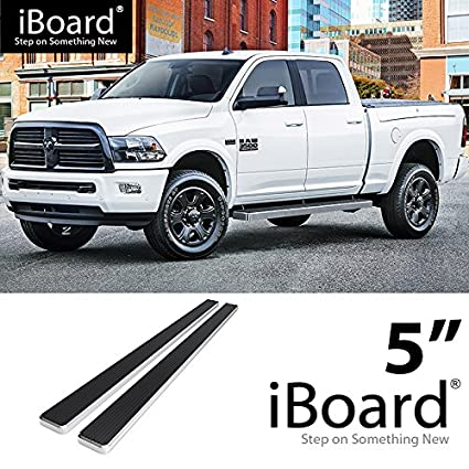 Ram 1500 Running Boards >> Amazon Com Off Roader Eboard Running Board 5 Silver Fits 2009 2018