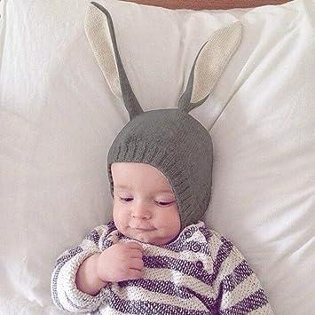 Chapeau bebe Garçons Fille de hiver, Mignon Oreilles De Lapin Bonnet Chaud Chapeaux  pour eb7549639cf