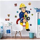 Walltastic 44333 Sam, der Feuerwehrmann, großer Figuraufkleber, Vinyl, bunt, 7 x 7 x 52,5 cm