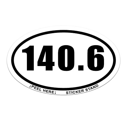 140 6 ironman triathlon run car bumper window sticker 5 x