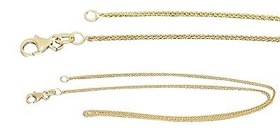 ea40a32d2e93 Hobra-Gold 38 cm suave espumosos de cadena de oro 585 collar de cadena oro