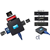 High Speed - All in One USB 3.0 Card Reader / Writer - Compatible with SD, SDHC, SDXC, Micro SD, TF, CF, XD, M2 and Sony Memory Stick Pro Duo Card - For Sony, Panasonic, Canon, Fujifilm, Olympus, Pentax, Kodak, JVC, Minolta, Samsung, Nikon, Casio, BenQ and GE Digital Camera - Backward USB Compatible - AAA Products®, [Importado de UK]