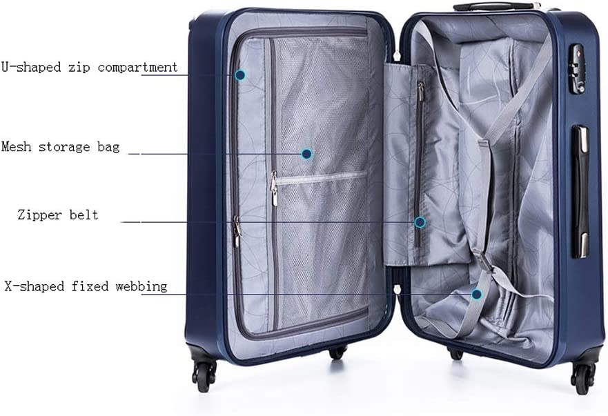 Xinqing Trolley Universal Wheel Luggage for Men and Women Travel Luggage Password Box 24 Inch Color Black Blue Silver Size 604326.5cm Best Choice Product Color : Silver
