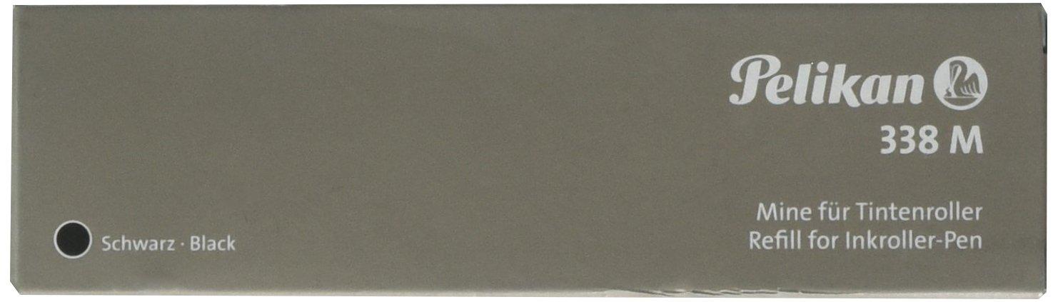 Pelikan 338 M Roller Ball Pen Refill, Black Ink, Medium Point, Pack of 10