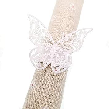 JZK® 50 x servilletero papel perla anillo de servilleta para boda, bautismo, comunión
